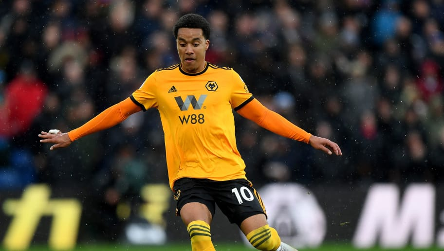 LONDON, ENGLAND - OCTOBER 06: Helder Costa of Wolverhampton Wanderers during the Premier League match between Crystal Palace and Wolverhampton Wanderers at Selhurst Park on October 6, 2018 in London, United Kingdom. (Photo by Sam Bagnall - AMA/Getty Images)