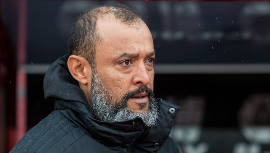 LONDON, ENGLAND - OCTOBER 06: Manager Nuno Espirito Santo of Wolverhampton during the Premier League match between Crystal Palace and Wolverhampton Wanderers at Selhurst Park on October 6, 2018 in London, England. (Photo by Sebastian Frej/MB Media/Getty Images)