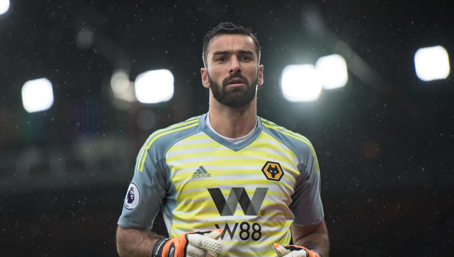 LONDON, ENGLAND - OCTOBER 06: Rui Patricio of Wolverhampton looks on during the Premier League match between Crystal Palace and Wolverhampton Wanderers at Selhurst Park on October 6, 2018 in London, United Kingdom. (Photo by Sebastian Frej/MB Media/Getty Images)