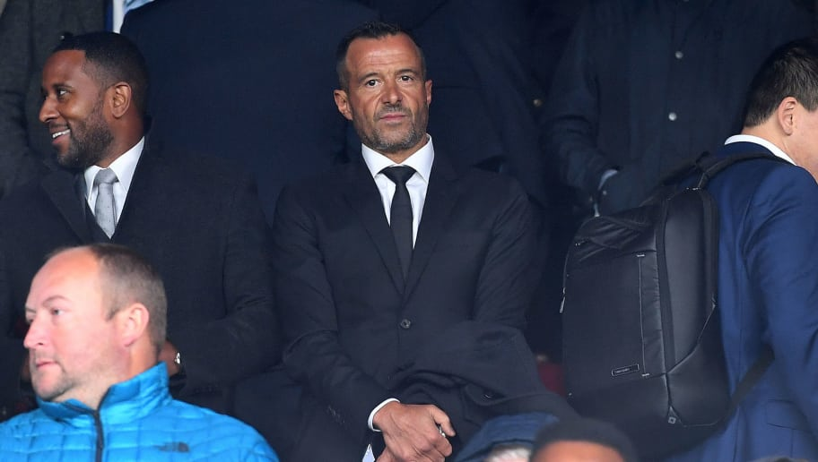 LONDON, ENGLAND - OCTOBER 06: Football agent Jorge Mendes of GestiFute company attends the game during the Premier League match between Crystal Palace and Wolverhampton Wanderers at Selhurst Park on October 6, 2018 in London, United Kingdom. (Photo by Sam Bagnall - AMA/Getty Images)