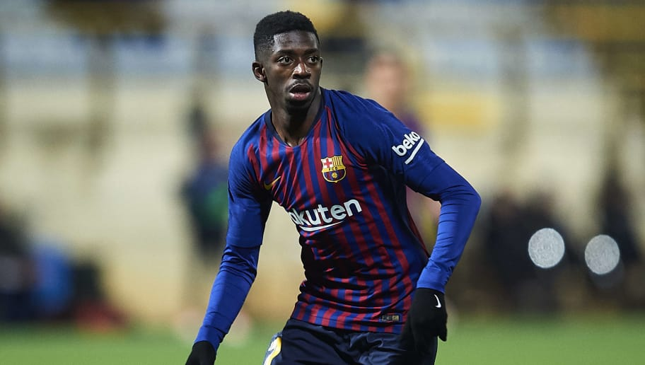 LEON, SPAIN - OCTOBER 31:  Ousmane Dembele of FC Barcelona looks on during the Spanish Copa del Rey match between Cultura Leonesa and FC Barcelona at Estadio Reino de Leon on October 31, 2018 in Leon, Spain.  (Photo by Juan Manuel Serrano Arce/Getty Images)