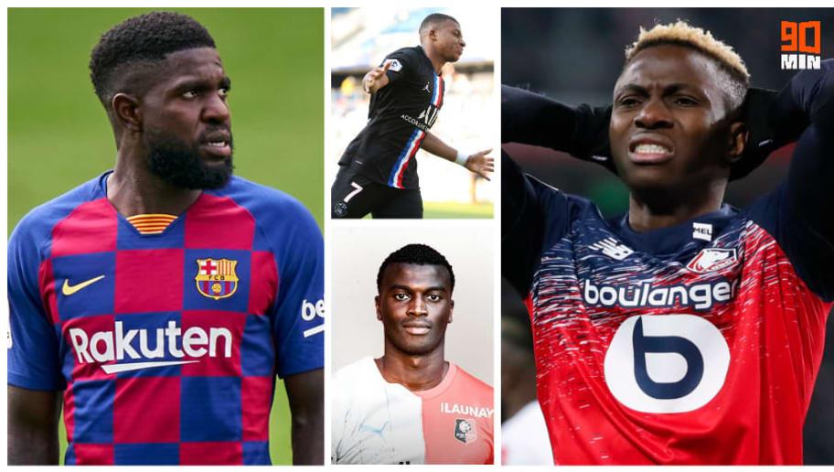 Samuel Umtiti, Kylian Mbappé, M'Baye Niang et Victor Osimhen.