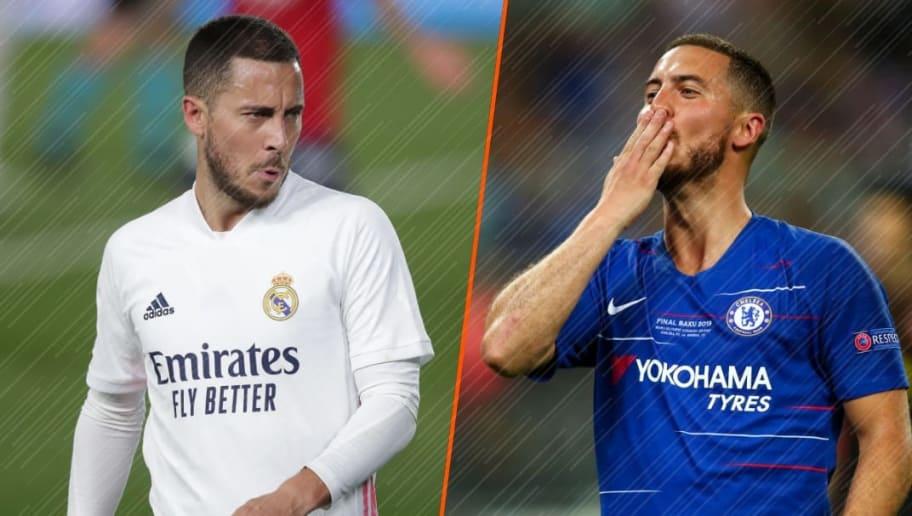 Hazard vit une période compliquée au Real Madrid depuis son départ d'Angleterre