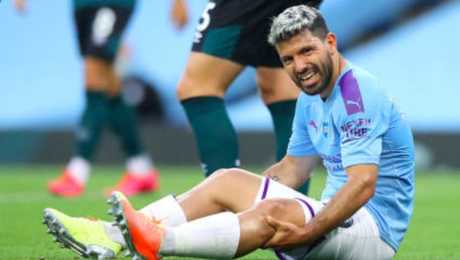 Sergio Aguero will miss Manchester City's big Champions League clash with Real Madrid