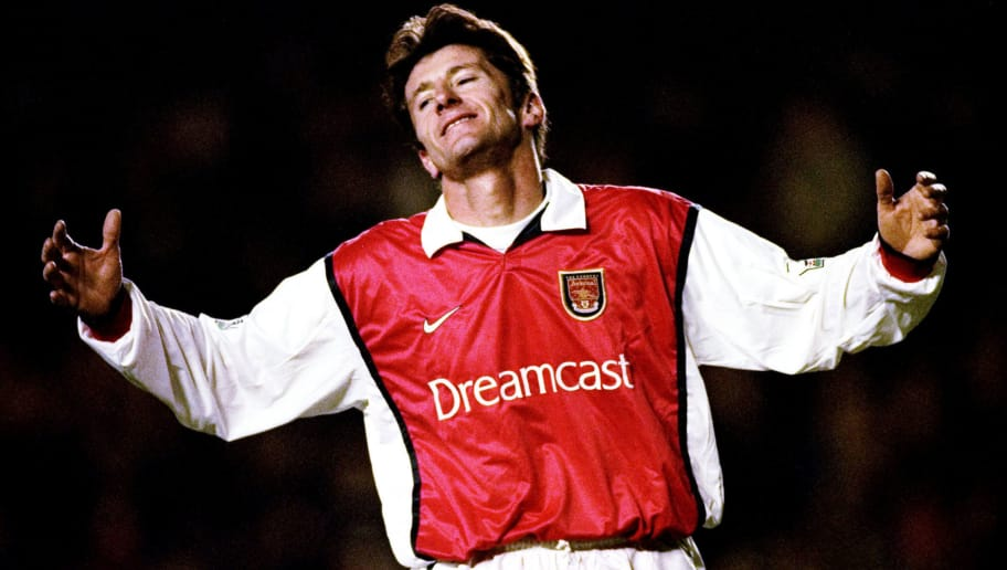 18 Dec 1999:  Davor Suker of Arsenal shoots wide against Wimbledon during the FA Carling Premiership match at Highbury in London. The game ended 1-1. \ Mandatory Credit: Graham Chadwick /Allsport