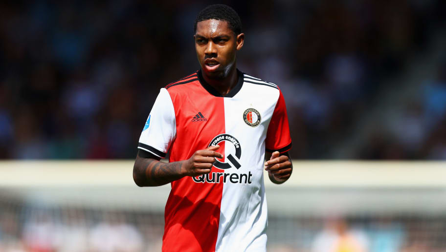 DOETINCHEM, NETHERLANDS - AUGUST 12:  Jean-Paul Boetius of Feyenoord looks on during the Eredivisie match between De Graafschap and Feyenoord at Stadion De Vijverberg on August 12, 2018 in Doetinchem, Netherlands.  (Photo by Dean Mouhtaropoulos/Getty Images)