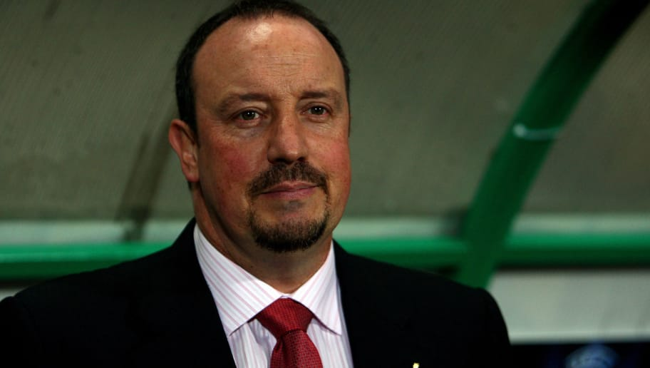 BUDAPEST, HUNGARY - NOVEMBER 24:  Liverpool Manager Rafael Benitez looks on during the UEFA Champions League group E match between Debrecen and Liverpool at the Ferenc Puskas Stadium on November 24, 2009 in Budapest, Hungary.  (Photo by Richard Heathcote/Getty Images)