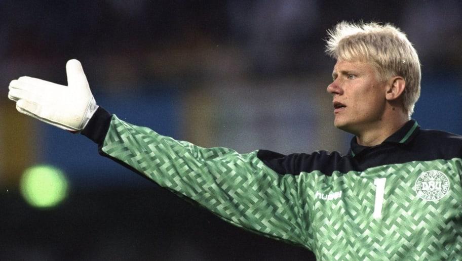 Denmark goalkeeper Peter Schmeichel