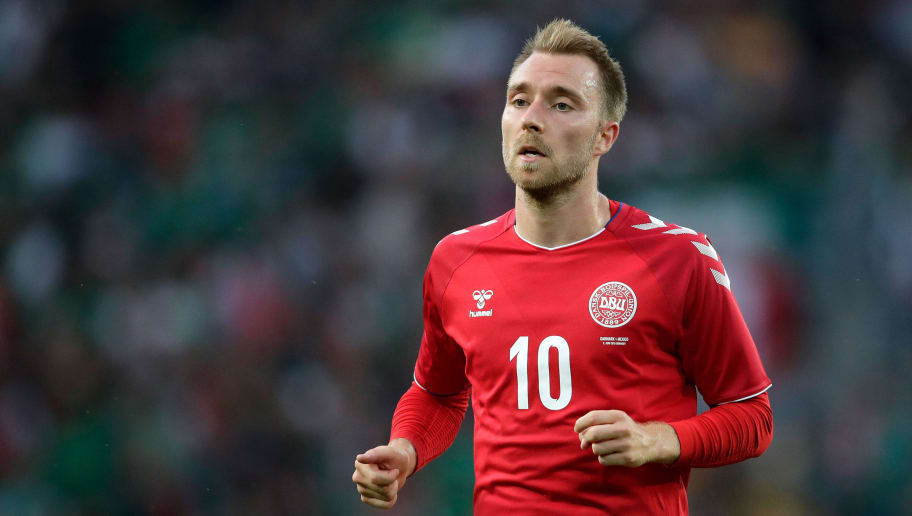COPENHAGEN, DENMARK - JUNE 9: Christian Eriksen of Denmark  during the  International Friendly match between Denmark  v Mexico  at the Brondby Stadium on June 9, 2018 in Copenhagen Denmark (Photo by Laurens Lindhout/Soccrates/Getty Images)