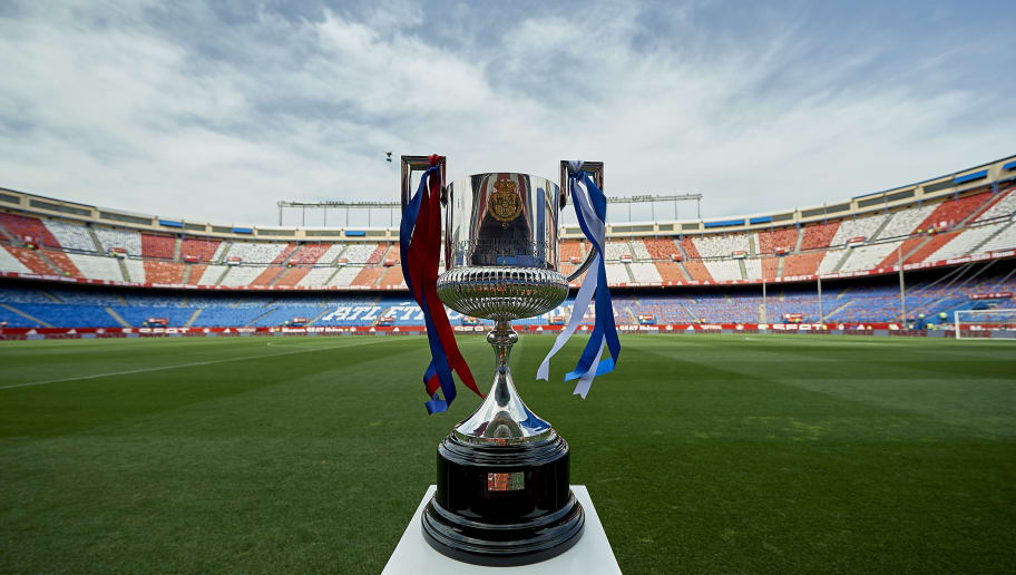 MADRID, SPAIN - MAY 27:  Copa del Rey trophy is pictured prior to the kick off the Copa Del Rey Final between FC Barcelona and Deportivo Alaves at Vicente Calderon stadium on May 27, 2017 in Madrid, Spain.  (Photo by fotopress/Getty Images)