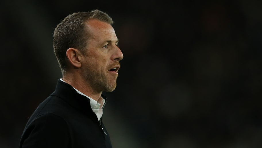 DERBY, ENGLAND - MAY 11: Derby County manager Gary Rowett during the Sky Bet Championship Play Off Semi Final:First Leg match between Derby County and Fulham at iPro Stadium on May 11, 2018 in Derby, England. (Photo by James Williamson - AMA/Getty Images)