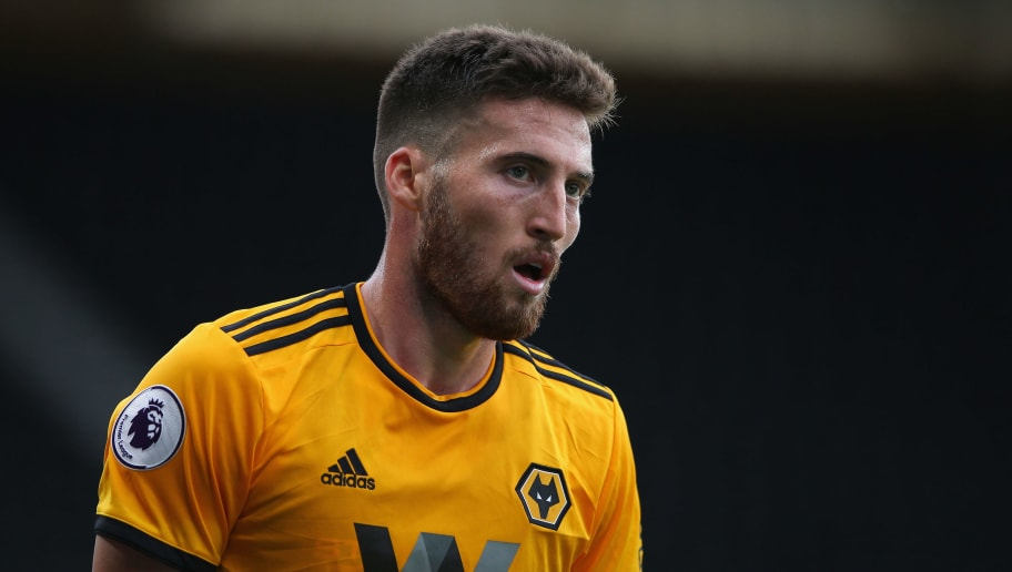 DERBY, ENGLAND - JULY 28:  Matt Doherty of Wolverhampton Wanderers during a pre-season friendly match between Derby County and Wolverhampton Wanderers at Pride Park on July 28, 2018 in Derby, England.  (Photo by Alex Livesey/Getty Images)
