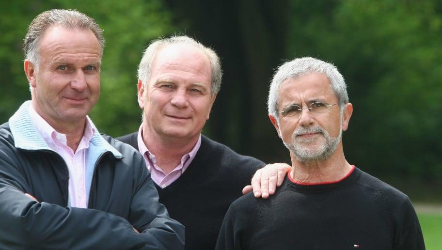 Uli Hoeness,Gerd Mueller,Karl-Heinz Rummnigge