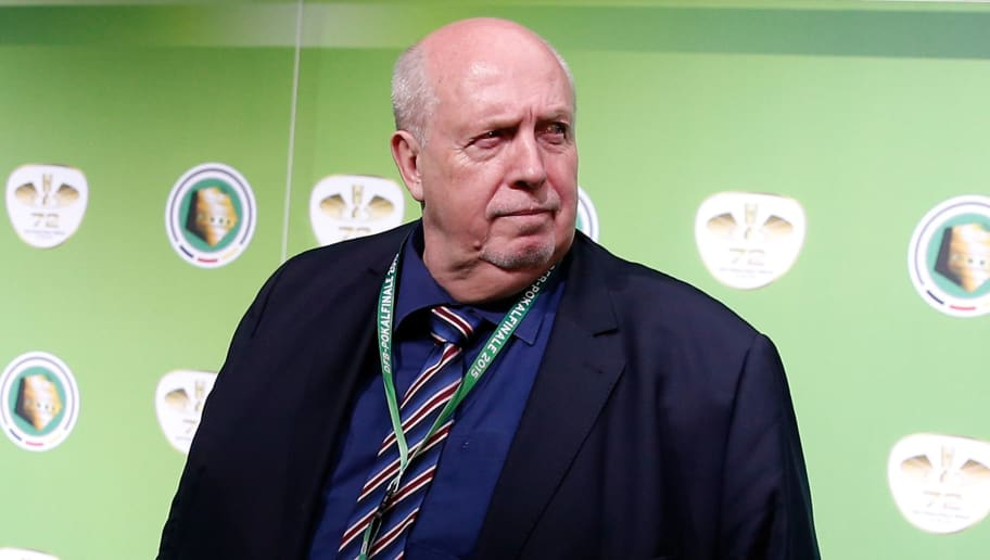 BERLIN, GERMANY - MAY 30:  Reiner Calmund looks on at the green carpet prior to the DFB Cup Final between Borussia Dortmund and VfL Wolfsburg at Olympiastadion on May 30, 2015 in Berlin, Germany.  (Photo by Boris Streubel/Bongarts/Getty Images)
