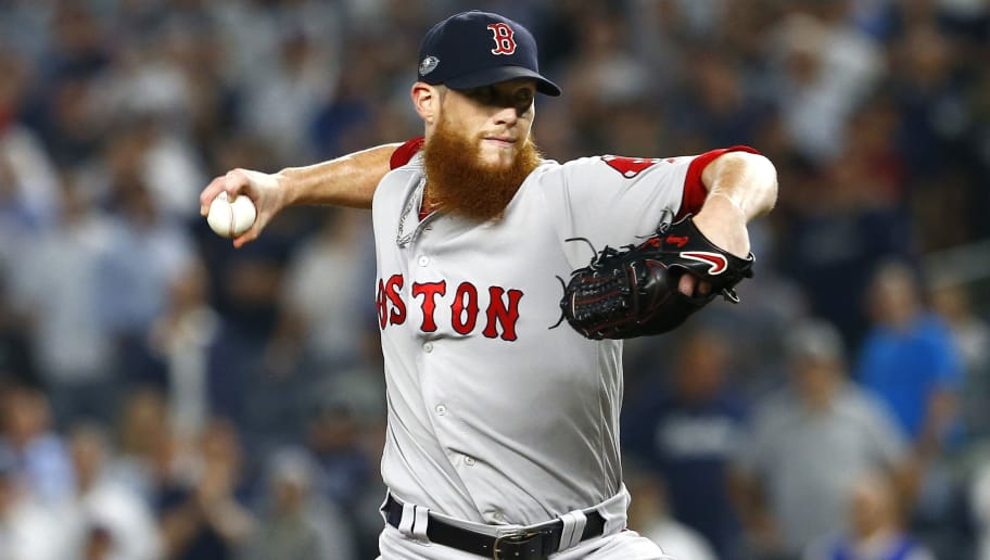 NEW YORK, NEW YORK - OCTOBER 09:  Craig Kimbrel #46 of the Boston Red Sox throws a pitch against the New York Yankees during the ninth inning in Game Four of the American League Division Series at Yankee Stadium on October 09, 2018 in the Bronx borough of New York City. (Photo by Mike Stobe/Getty Images)