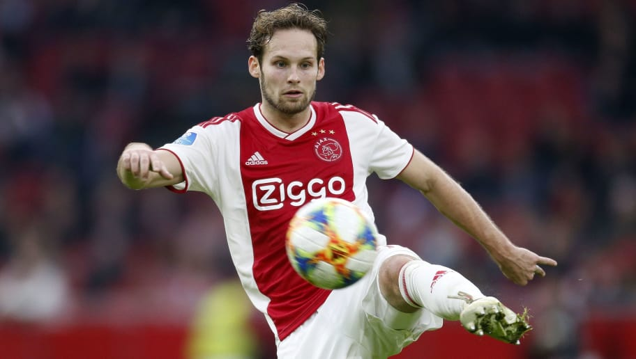 Daley Blind of Ajax during the Dutch Eredivisie match between Ajax Amsterdam and ADO Den Haag at the Johan Cruijff Arena on December 02, 2018 in Amsterdam, The Netherlands(Photo by VI Images via Getty Images)