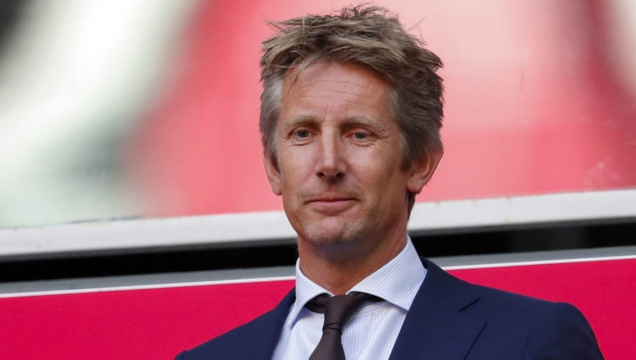 Ajax general director Edwin van der Sar during the Dutch Eredivisie match between Ajax Amsterdam and Heracles Almelo at the Johan Cruijff Arena on August 11, 2018 in Amsterdam, The Netherlands(Photo by VI Images via Getty Images)