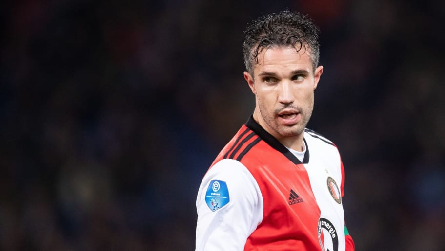 Robin van Persie of Feyenoord during the Dutch Eredivisie match between Feyenoord Rotterdam and VVV Venlo at the Kuip on December 06, 2018 in Rotterdam, The Netherlands(Photo by VI Images via Getty Images)