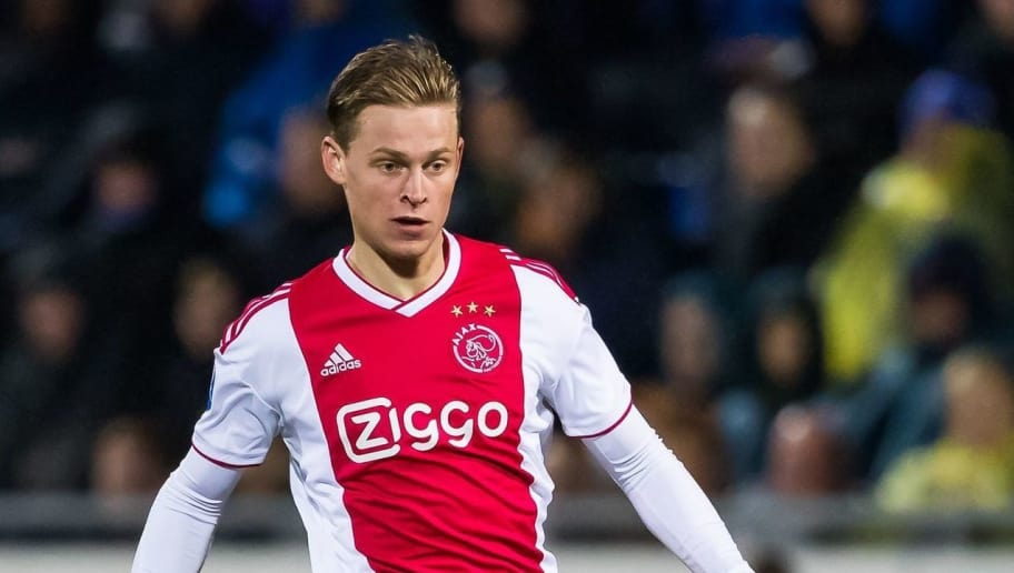 Frenkie de Jong of Ajax during the Dutch Eredivisie match between PEC Zwolle and Ajax Amsterdam at the MAC3Park stadium on December 08, 2018 in Zwolle, The Netherlands(Photo by VI Images via Getty Images)