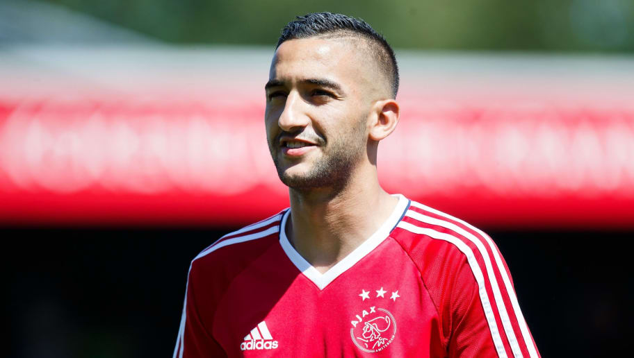 Hakim Ziyech of Ajax during the Dutch Eredivisie match between sbv Excelsior Rotterdam and Ajax Amsterdam at Van Donge & De Roo stadium on May 06, 2018 in Rotterdam, The Netherlands(Photo by VI Images via Getty Images)