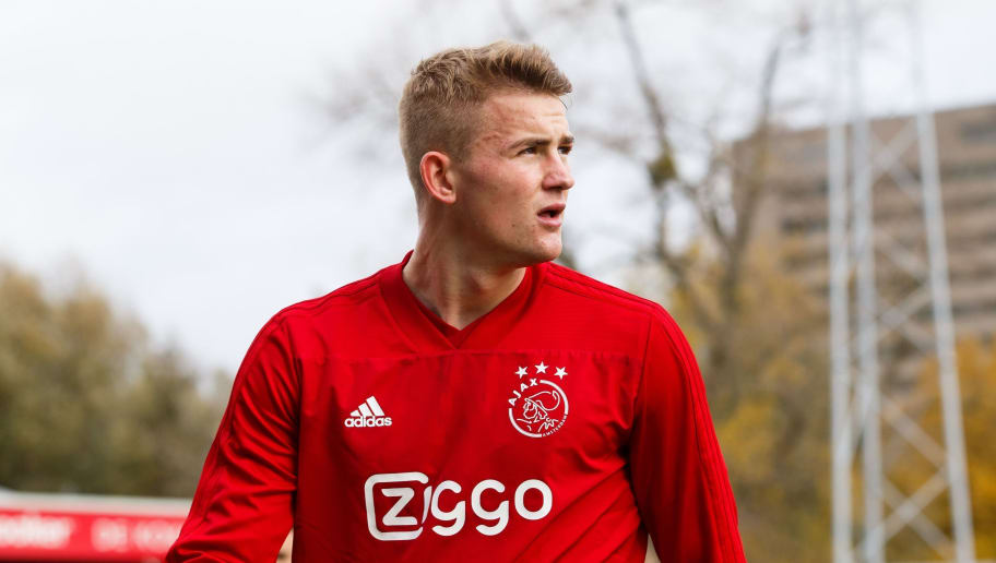 Matthijs de Ligt of Ajax during the Dutch Eredivisie match between sbv Excelsior Rotterdam and Ajax Amsterdam at Van Donge & De Roo stadium on November 11, 2018 in Rotterdam, The Netherlands(Photo by VI Images via Getty Images)
