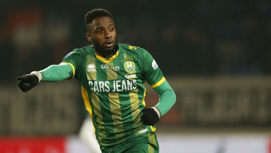 Wilfried Kanon of ADO Den Haag during the Dutch Eredivisie match between Willem II Tilburg and ADO Den Haag at Koning Willem II stadium on December 14, 2018 in Tilburg, The Netherlands(Photo by VI Images via Getty Images)