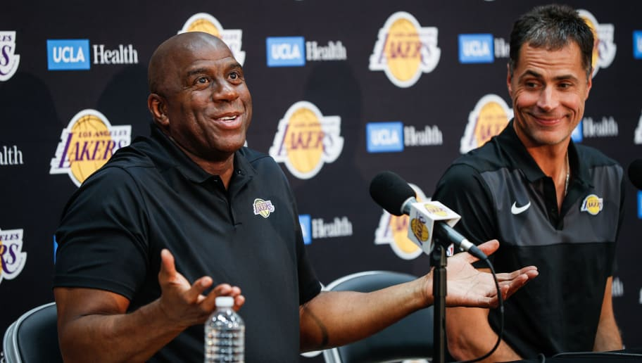 Magic Johnson,Rob Pelinka