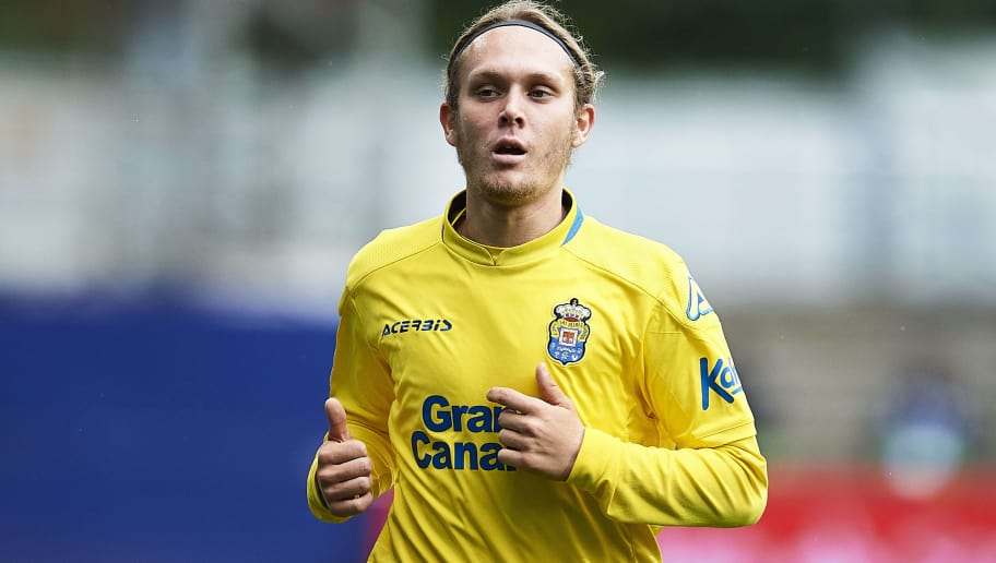 EIBAR, SPAIN - MAY 12:  Alen Halilovic of UD Las Palmas reacts during the La Liga match between SD Eibar and UD Las Palmas at Ipurua Municipal Stadium on May 12, 2018 in Eibar, Spain.  (Photo by Juan Manuel Serrano Arce/Getty Images)