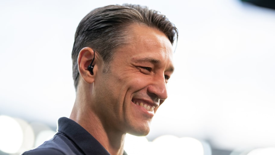 FRANKFURT AM MAIN, GERMANY - AUGUST 12: Head coach Nico Kovac of FC Bayern Muenchen looks on prior to the DFL Supercup 2018 match between Eintracht Frankfurt and Bayern Muenchen at Commerzbank-Arena on August 12, 2018 in Frankfurt am Main, Germany.  (Photo by Boris Streubel/Getty Images)