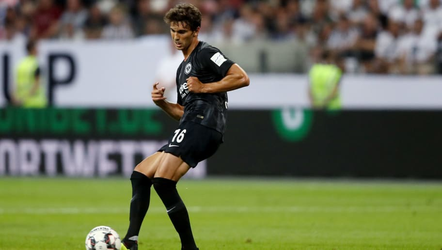 FRANKFURT AM MAIN, GERMANY - AUGUST 12: Lucas Torro of Frankfurt runs with the ball during the DFL Supercup match between Eintracht Frankfurt an Bayern Muenchen at Commerzbank-Arena on August 12, 2018 in Frankfurt am Main, Germany. (Photo by Christof Koepsel/Bongarts/Getty Images)