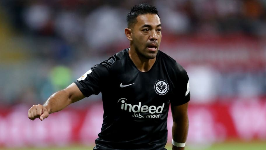 FRANKFURT AM MAIN, GERMANY - AUGUST 12: Marco Fabian of Frankfurt runs with the ball during the DFL Supercup match between Eintracht Frankfurt an Bayern Muenchen at Commerzbank-Arena on August 12, 2018 in Frankfurt am Main, Germany. (Photo by Christof Koepsel/Bongarts/Getty Images)