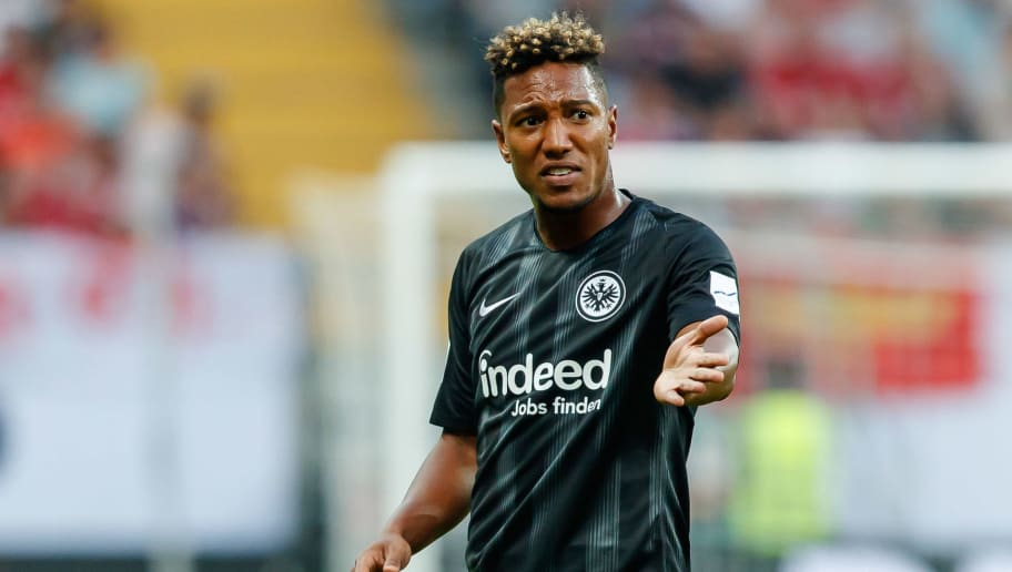 FRANKFURT AM MAIN, GERMANY - AUGUST 12: Jonathan de Guzman of Eintracht Frankfurt gestures during the DFL Supercup match between Eintracht Frankfurt and Bayern Muenchen at Commerzbank-Arena on August 12, 2018 in Frankfurt am Main, Germany. (Photo by TF-Images/Getty Images)