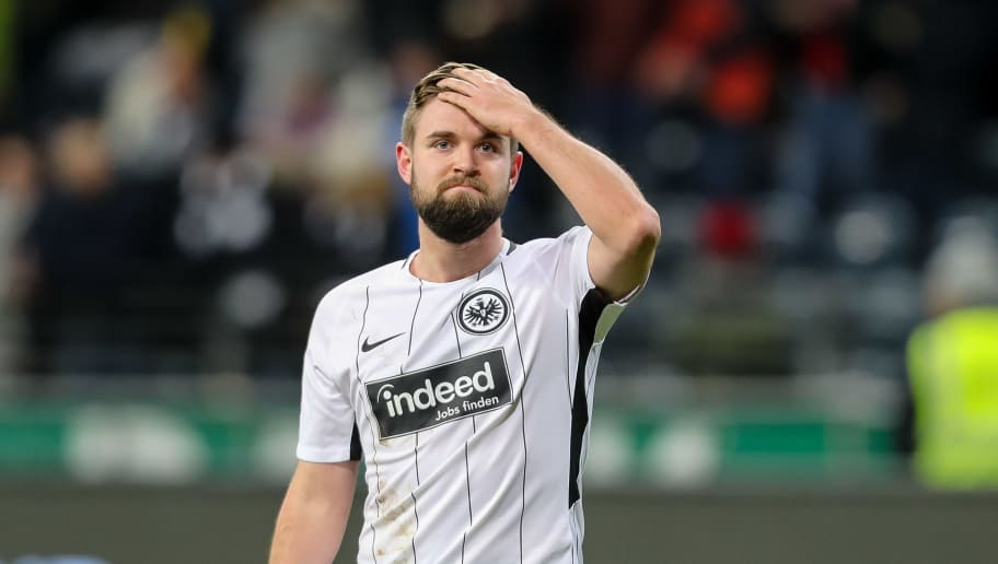FRANKFURT AM MAIN, GERMANY - DECEMBER 09: Marc Stendera of Frankfurt looks on during the Bundesliga match between Eintracht Frankfurt and FC Bayern Muenchen at Commerzbank-Arena on December 9, 2017 in Frankfurt am Main, Germany. (Photo by TF-Images/TF-Images via Getty Images)