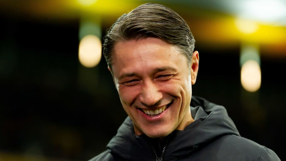 FRANKFURT AM MAIN, GERMANY - DECEMBER 22: Head coach Niko Kovac of Bayern Muenchen looks on during the Bundesliga match between Eintracht Frankfurt and FC Bayern Muenchen at Commerzbank-Arena on December 22, 2018 in Frankfurt am Main, Germany. (Photo by TF-Images/TF-Images via Getty Images)