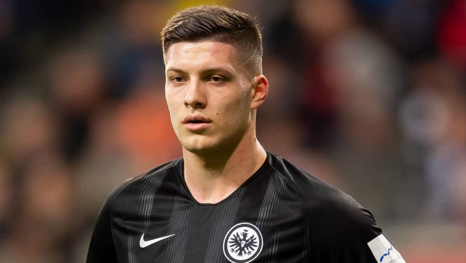 FRANKFURT AM MAIN, GERMANY - DECEMBER 22: Luka Jovic of Eintracht Frankfurt looks on during the Bundesliga match between Eintracht Frankfurt and FC Bayern Muenchen at Commerzbank-Arena on December 22, 2018 in Frankfurt am Main, Germany. (Photo by TF-Images/TF-Images via Getty Images)