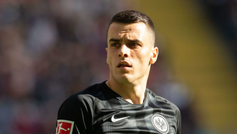 FRANKFURT AM MAIN, GERMANY - SEPTEMBER 30: Filip Kostic of Frankfurt looks on during the Bundesliga match between Eintracht Frankfurt and Hannover 96 at Commerzbank-Arena on September 30, 2018 in Frankfurt am Main, Germany. (Photo by Juergen Schwarz/Bongarts/Getty Images)