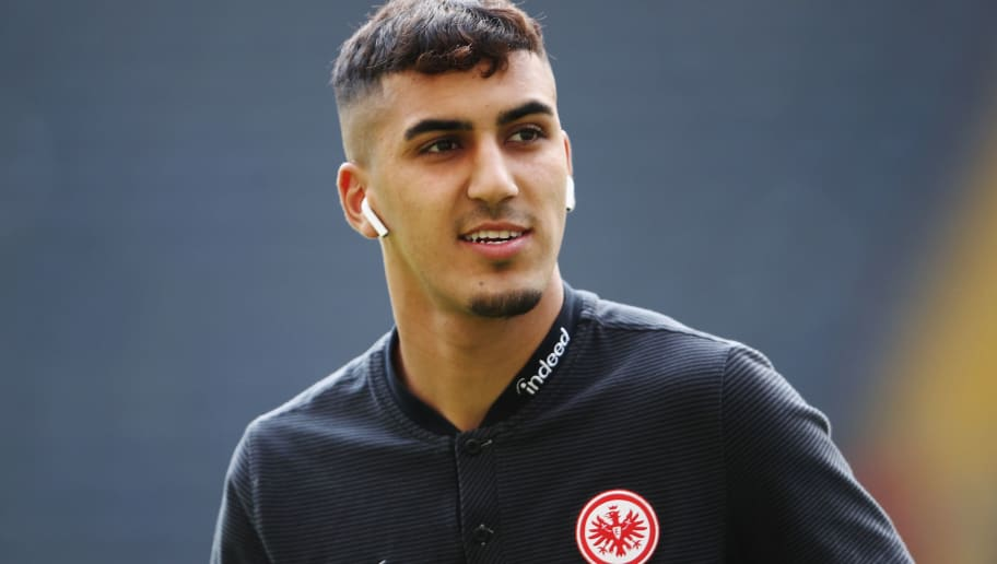 FRANKFURT AM MAIN, GERMANY - APRIL 21:  Ayman Barkok of Frankfurt looks on prior to the Bundesliga match between Eintracht Frankfurt and Hertha BSC at Commerzbank-Arena on April 21, 2018 in Frankfurt am Main, Germany.  (Photo by Alex Grimm/Bongarts/Getty Images)