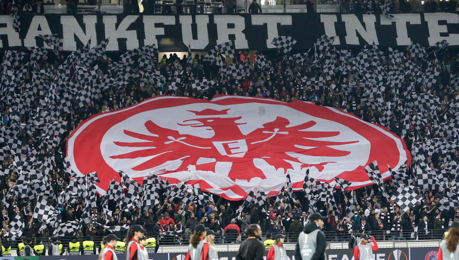 FRANKFURT, GERMANY - NOVEMBER 29: supporters of Eintracht Frankfurt during the UEFA Europa League   match between Eintracht Frankfurt v Olympique Marseille at the Commerzbank Arena on November 29, 2018 in Frankfurt Germany (Photo by Jeroen Meuwsen/Soccrates/Getty Images)