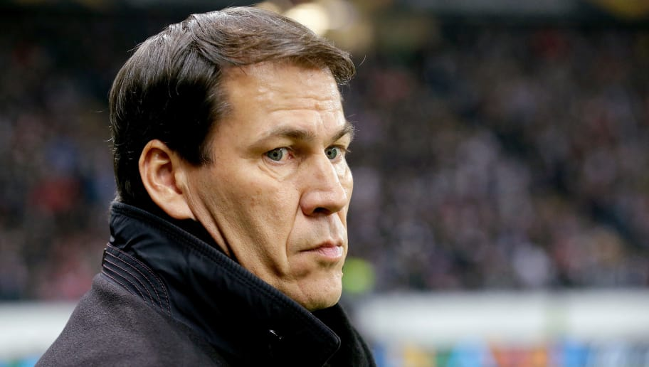FRANKFURT, GERMANY - NOVEMBER 29: coach Rudi Garcia of Olympique Marseille  during the UEFA Europa League   match between Eintracht Frankfurt v Olympique Marseille at the Commerzbank Arena on November 29, 2018 in Frankfurt Germany (Photo by Jeroen Meuwsen/Soccrates/Getty Images)