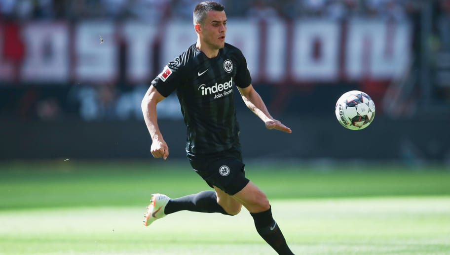FRANKFURT AM MAIN, GERMANY - SEPTEMBER 01:  Filip Kostic of Frankfurt controls the ball during the Bundesliga match between Eintracht Frankfurt and SV Werder Bremen at Commerzbank-Arena on September 1, 2018 in Frankfurt am Main, Germany.  (Photo by Alex Grimm/Bongarts/Getty Images)