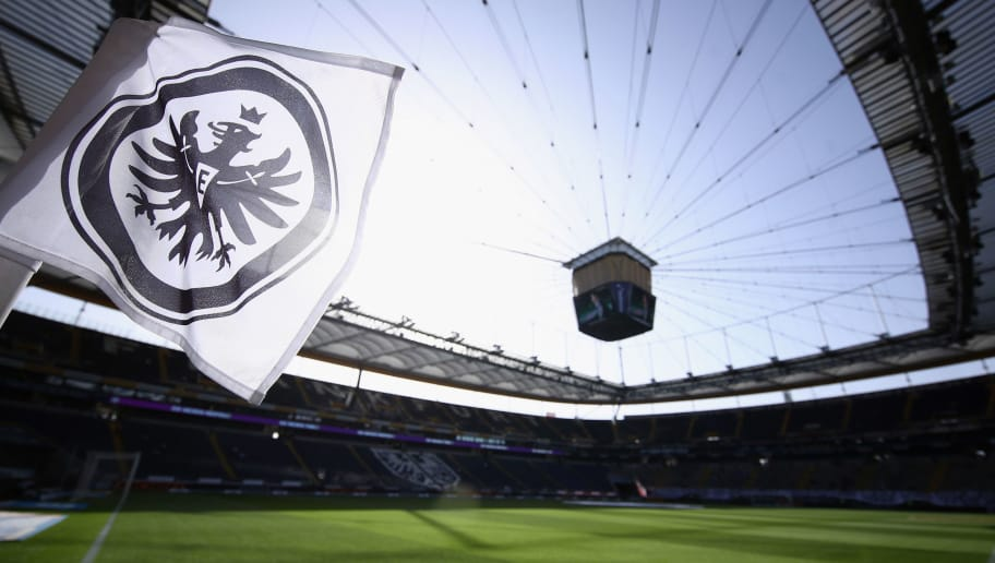 FRANKFURT AM MAIN, GERMANY - APRIL 08:  A general view prior to the Bundesliga match between Eintracht Frankfurt and TSG 1899 Hoffenheim at Commerzbank-Arena on April 8, 2018 in Frankfurt am Main, Germany.  (Photo by Alex Grimm/Bongarts/Getty Images)