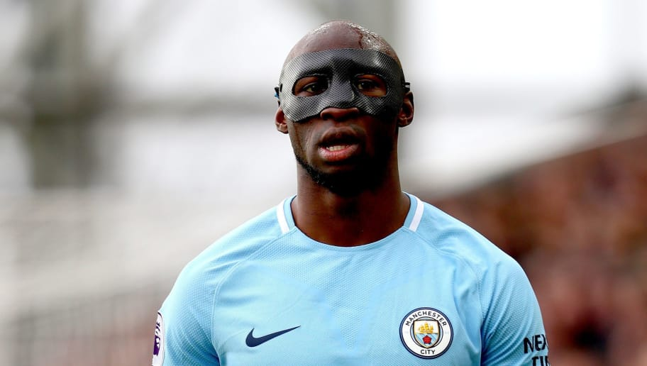 LONDON, ENGLAND - DECEMBER 31:  Eliaquim Mangala of Manchester Cityduring the Premier League match between Crystal Palace and Manchester City at Selhurst Park on December 31, 2017 in London, England.  (Photo by Clive Rose/Getty Images)