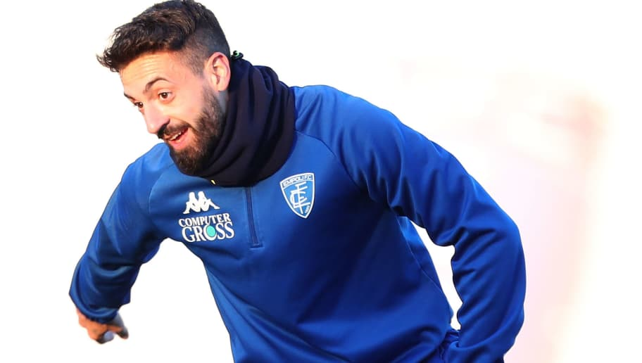 EMPOLI, ITALY - NOVEMBER 28: Francesco Caputo of Empoli FC during training session on November 28, 2018 in Empoli, Italy.  (Photo by Gabriele Maltinti/Getty Images)