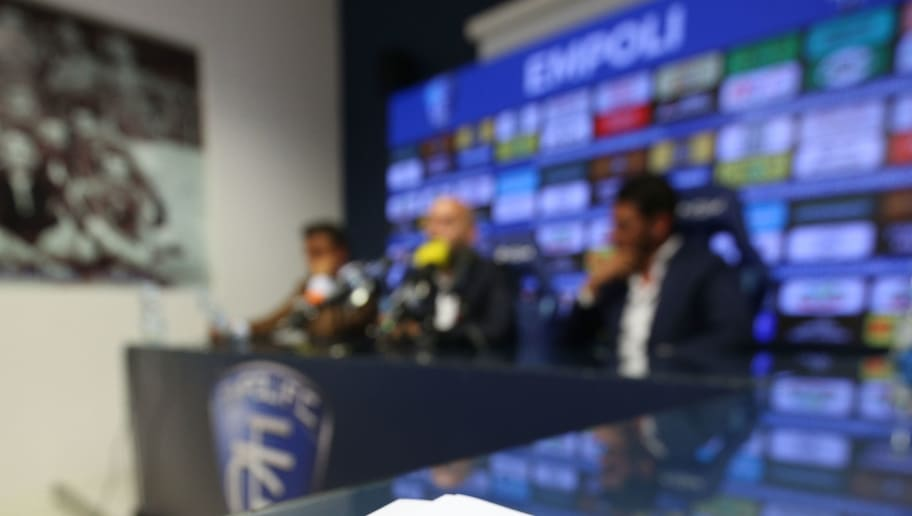 Empoli New Head Coach Cristian Bucchi Press Confernce