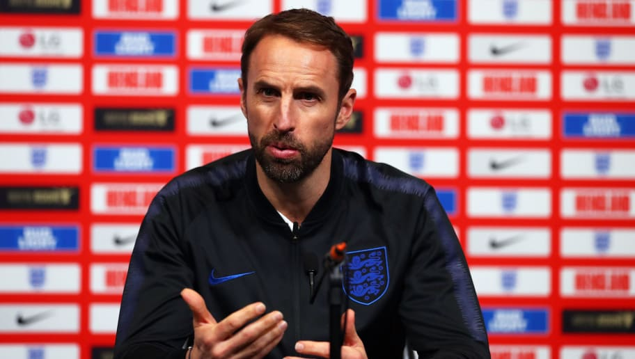 LONDON, ENGLAND - NOVEMBER 14:  Gareth Southgate manager of England speaks during an England press conference at Wembley Stadium on November 14, 2018 in London, England.  (Photo by Catherine Ivill/Getty Images)