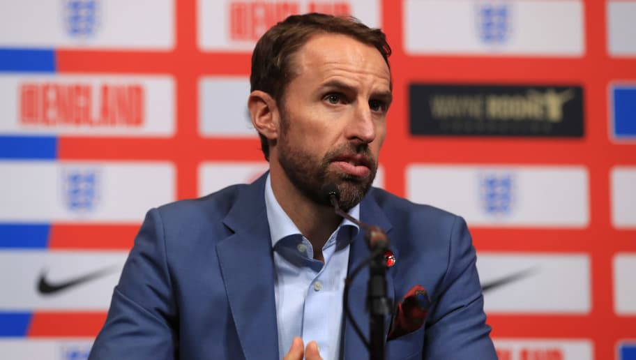 LONDON, ENGLAND - NOVEMBER 08:  Gareth Southgate manager of England attends an England press conference to announce the squad for the upcoming international matches at Wembley Stadium on November 8, 2018 in London, England.  (Photo by Andrew Redington/Getty Images)