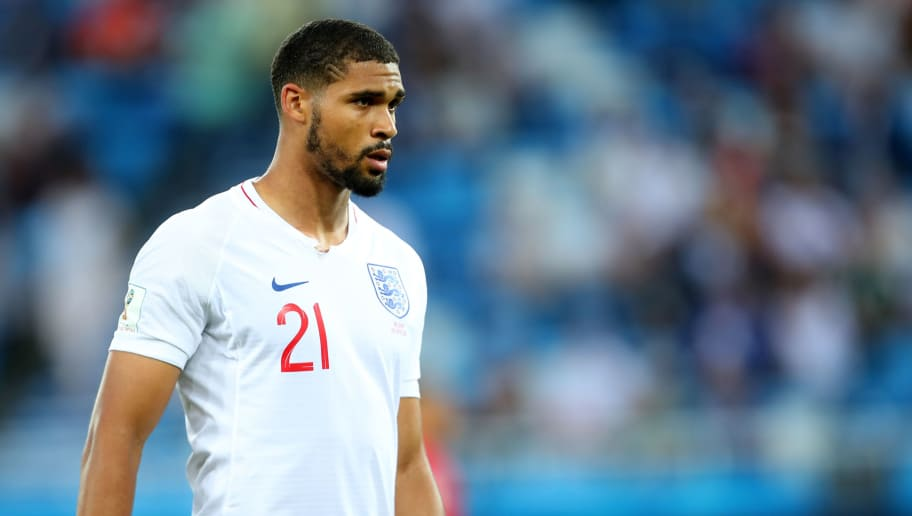 KALININGRAD, RUSSIA - JUNE 28:   Ruben Loftus-Cheek of England in action during  the 2018 FIFA World Cup Russia group G match between England and Belgium at Kaliningrad Stadium on June 28, 2018 in Kaliningrad, Russia. (Photo by Robbie Jay Barratt - AMA/Getty Images)
