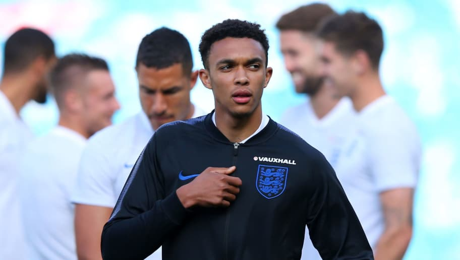 LEEDS, ENGLAND - JUNE 07:  Trent Alexander-Arnold of England looks on prior to the International Friendly match between England and Costa Rica at Elland Road on June 7, 2018 in Leeds, England.  (Photo by Alex Livesey/Getty Images)