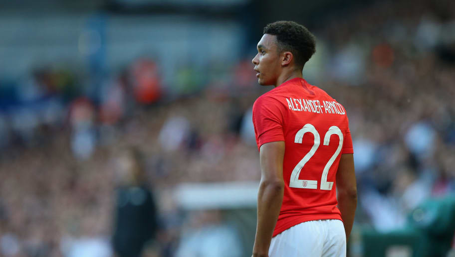 LEEDS, ENGLAND - JUNE 07:  Trent Alexander-Arnold of England looks on during the International friendly match between England and Costa Rica at Elland Road on June 7, 2018 in Leeds, England.  (Photo by Alex Livesey/Getty Images)