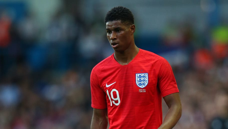 LEEDS, ENGLAND - JUNE 07:  Marcus Rashford of England during the International friendly match between England and Costa Rica at Elland Road on June 7, 2018 in Leeds, England.  (Photo by Alex Livesey/Getty Images)